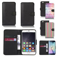 black pu leather wallet case cover for apple iphone models design ref q746