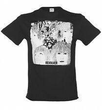 Official Men's Charcoal Beatles Revolver T-Shirt from Amplified