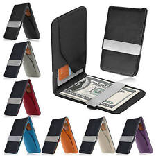 Men PU Leather Bifold Ultra Silm Wallet Credit Card Holder Coin Money Clip Purse