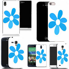 gel case cover for many mobiles - blue six leaf daisy silicone