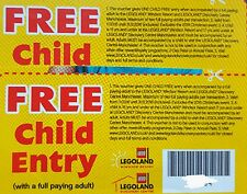 2 Legoland tickets free child entry with full paying adult until December 2016