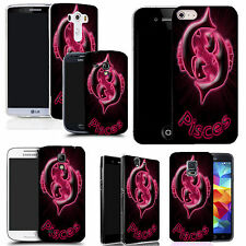 motif case cover for many Mobile phones - pink pisces