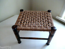 *An Absolute Poppet of A VINTAGE Seagrass STOOL*Sturdy & Strong*