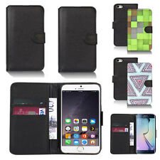 pu leather wallet case cover for many mobiles design ref q217