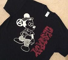 "Seditionaries MICKEY MOUSE Drug Fix DESTROY Black T-Shirt ADULT Punk XL 42"" New"
