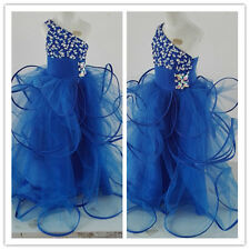 Flower Girl Dress Birthday Wedding Prom Pageant SchoolParty Princess Royal blue