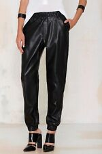 Nasty Gal Run with It Vegan Leather Jogger Pants