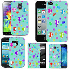 gel case cover for many mobiles - azure multi balloon flower silicone