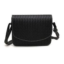 Women Girl Shoulder Bag Leather Satchel Crossbody Weave Tote Handbag Hobo Lot