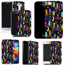 pictoral case cover for most Popular Mobile phones  - moon owls
