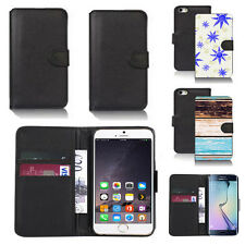 black pu leather wallet case cover for many mobiles design ref q532