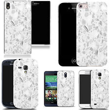 gel case cover for many mobiles  - hard marble silicone