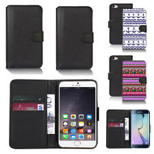 black pu leather wallet case cover for apple iphone models design ref q592