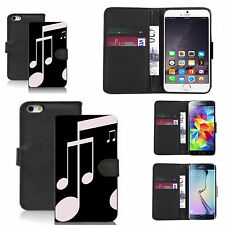pu leather wallet case for many Mobile phones - rhythmic pattern