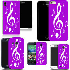 case cover for majority Popular Mobile phones - purple musical silicone