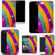 gel case cover for many mobiles  - rainbow fun silicone