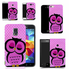 motif case cover for many Mobile phones - sleepy pink owl
