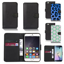 black pu leather wallet case cover for apple iphone models design ref q675