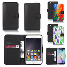 pu leather wallet case cover for many mobiles design ref q277