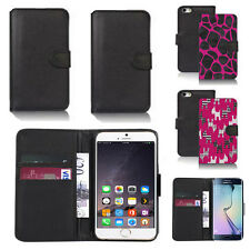 black pu leather wallet case cover for apple iphone models design ref q720