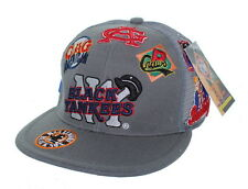 NEW NY Black Yankees Negro League Fitted Hat Embroidered Mesh Back Cap - Gray