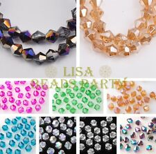 Lot Wholesale 50/100pcs 6mm Bicone Faceted Charms Loose Spacer Glass Beads