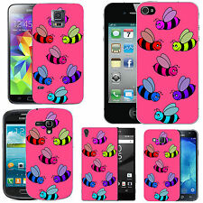 motif case cover for many Mobile phones -  blush coloured bees