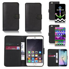 pu leather wallet case cover for many mobiles design ref q112