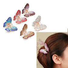 Fashion Women Girl Butterfly Claw Crystal Rhinestone Hair Clip Clamp Jaw Hairpin