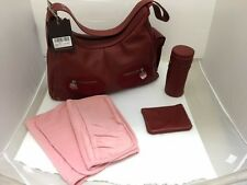 Petit Planet Leather Hobo Changing Bag - Red (B01486)
