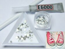 FULL Converse Kit - Swarovski Crystals, E6000 Glue Gems Rhinestone Bling Kit
