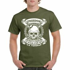 T Shirt Freedom Isn't Free S Veterans I American Mens Navy War Army Military Tee