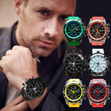Fashion Mens Quartz Watch Military Sport Silicone Hours Wristwatch Watches Gifts