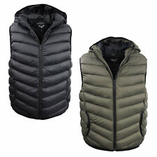 Mens Padded Gilet by Brave Soul Hooded Body Warmer Sleeveless Warm Sizes S to XL