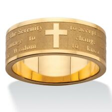 PalmBeach Jewelry Serenity Prayer Gold Ion-Plated Stainless Steel Ring