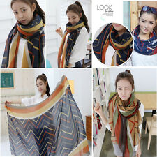 Women Fashion Pretty Long Scarf Wrap Shawl Stole Voile Soft Scarves Gifts New