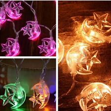 10 LED Moon Star Fairy Light Christmas Prom Indoor Outdoor Lights Decoration HOT