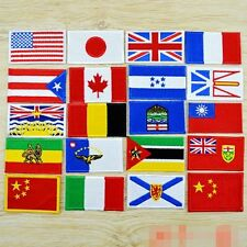 10PCS/SET Nation Flags Emblem Embroidery Sew on Patches Applique Motif