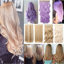 Real Thick Ombre Hair Clip in Hair Extensions 1PC Half Full Head Cosplay H108