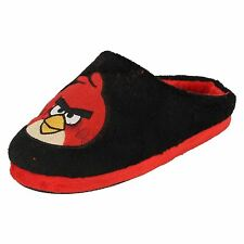 Angry Birds Boys Slippers Black/Red UK8-2 (R13A)