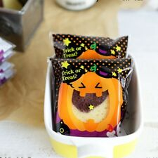 Halloween Black Pumpkin Cello Cellophane Party Favour Sweet Biscuit Gift Bags