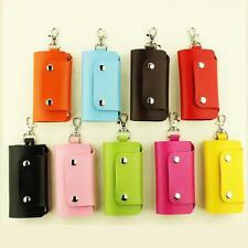 Men Women PU Leather Key Chain Accessory Pouch Bag Wallet Case Key Holder New v5