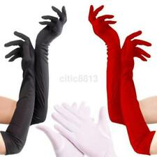 Fashion Satin Long Glove Opera Wedding Bridal Evening Party Prom Costume Glove A