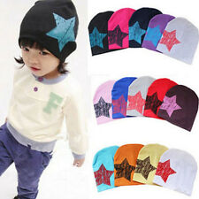 Unisex Baby Boy Girl Kid Toddler Infant Cotton Soft Children Cap Star Beanie Hat