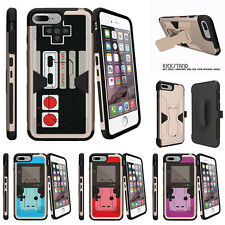 "For Apple iPhone 7 (4.7"") Gold Case Holster Clip Stand Game Controller"