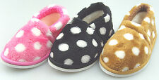 Infant Toddler Girls Faux Suede Winter Fur Slipper House Shoes Size 5-10 #681626