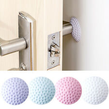 4Pcs Round Wall Protector Self Adhesive Door Handle Bumper Guard Stopper New