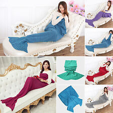 ADULTS Soft Knitting Mermaid Tail Blanket Handmade Crochet Mermaid Blanket Throw