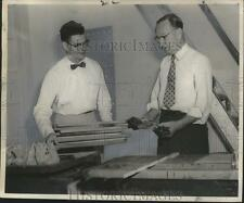 1956 Press Photo Association for Retarded Children - Bruce Love, George Atkins