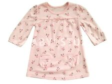 Baby Girls Pretty Pink Long Sleeve Cotton Dress Sizes 0-3 up to 12-18 Months